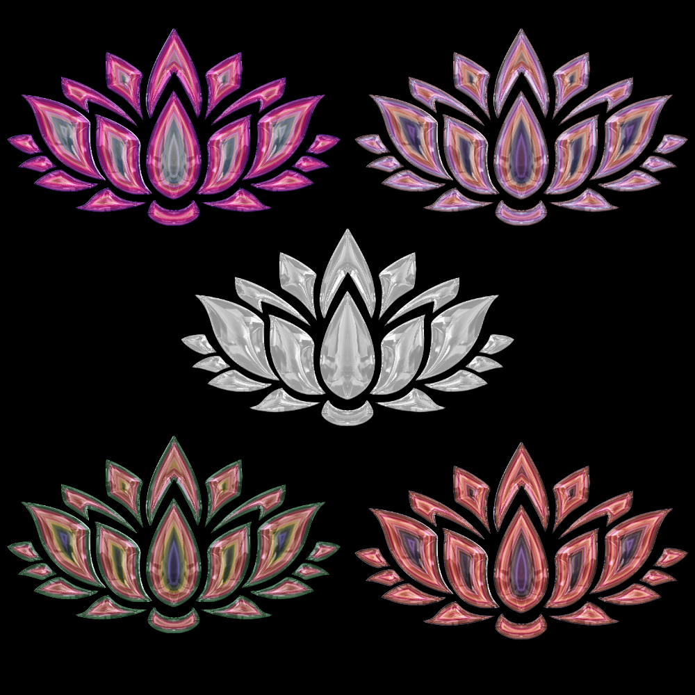 Lotus Flower Coloured Glass Brushes Gimp Learn