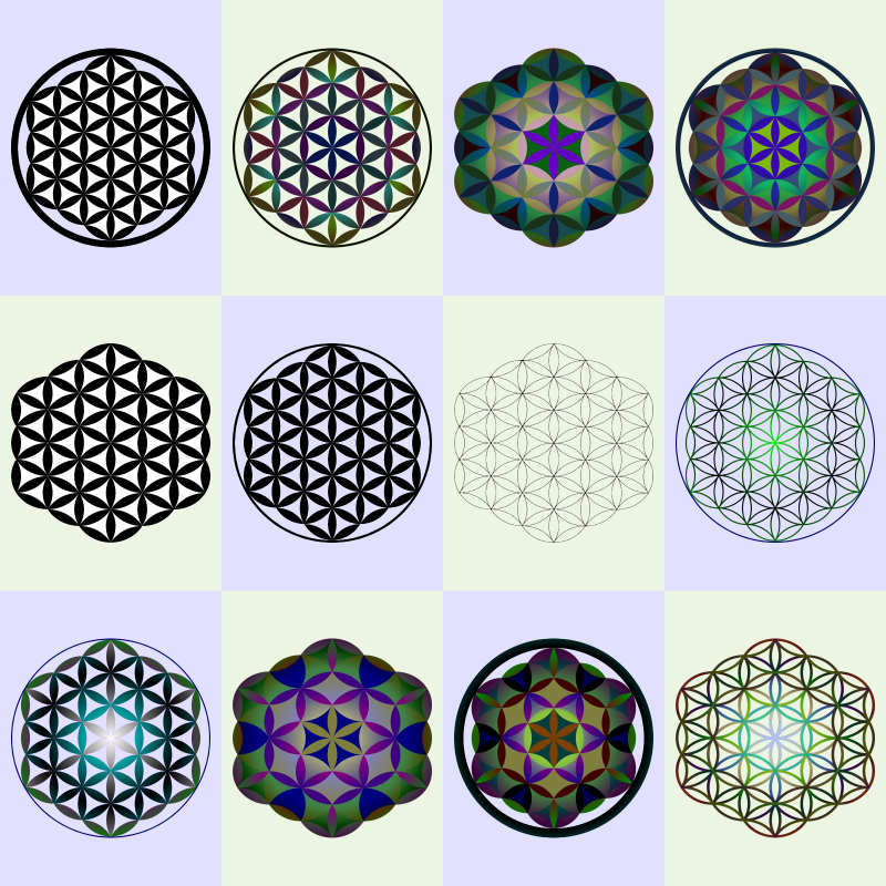 The Flower Of Life symbol is said to be helpful in opening the spirtual third-eye.